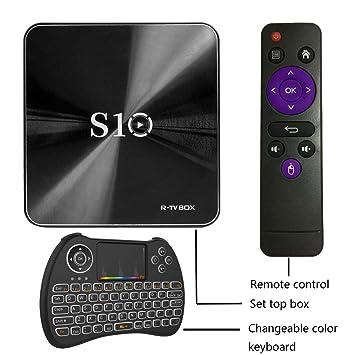 Puhong K1 Plus Android 7.1OS Set-top Box con Mini teclado y remoto H