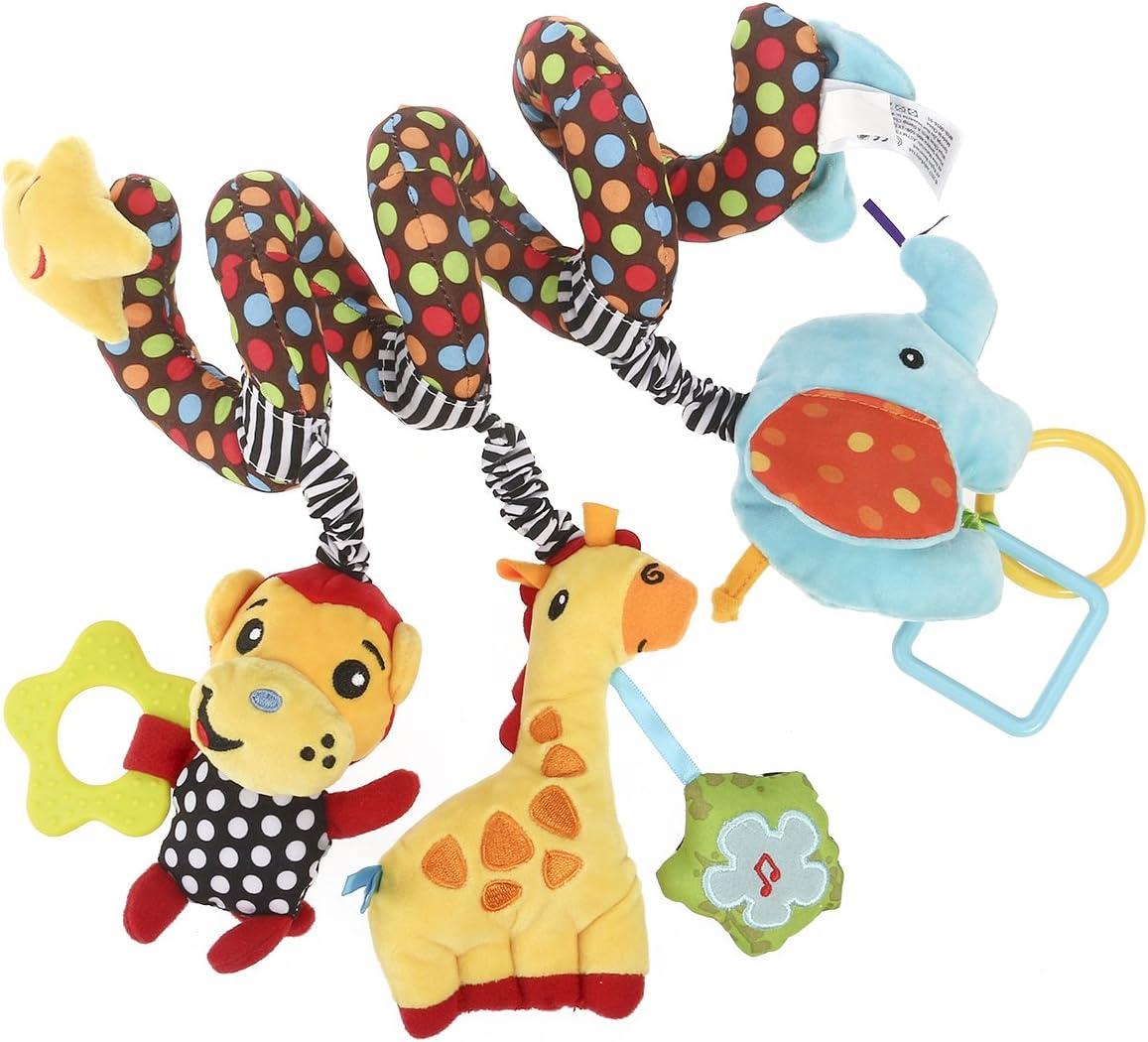 yeahibaby espiral cama cochecito juguete Niño Bebé Actividad pädagogische Peluche Mono Elefante Peluche