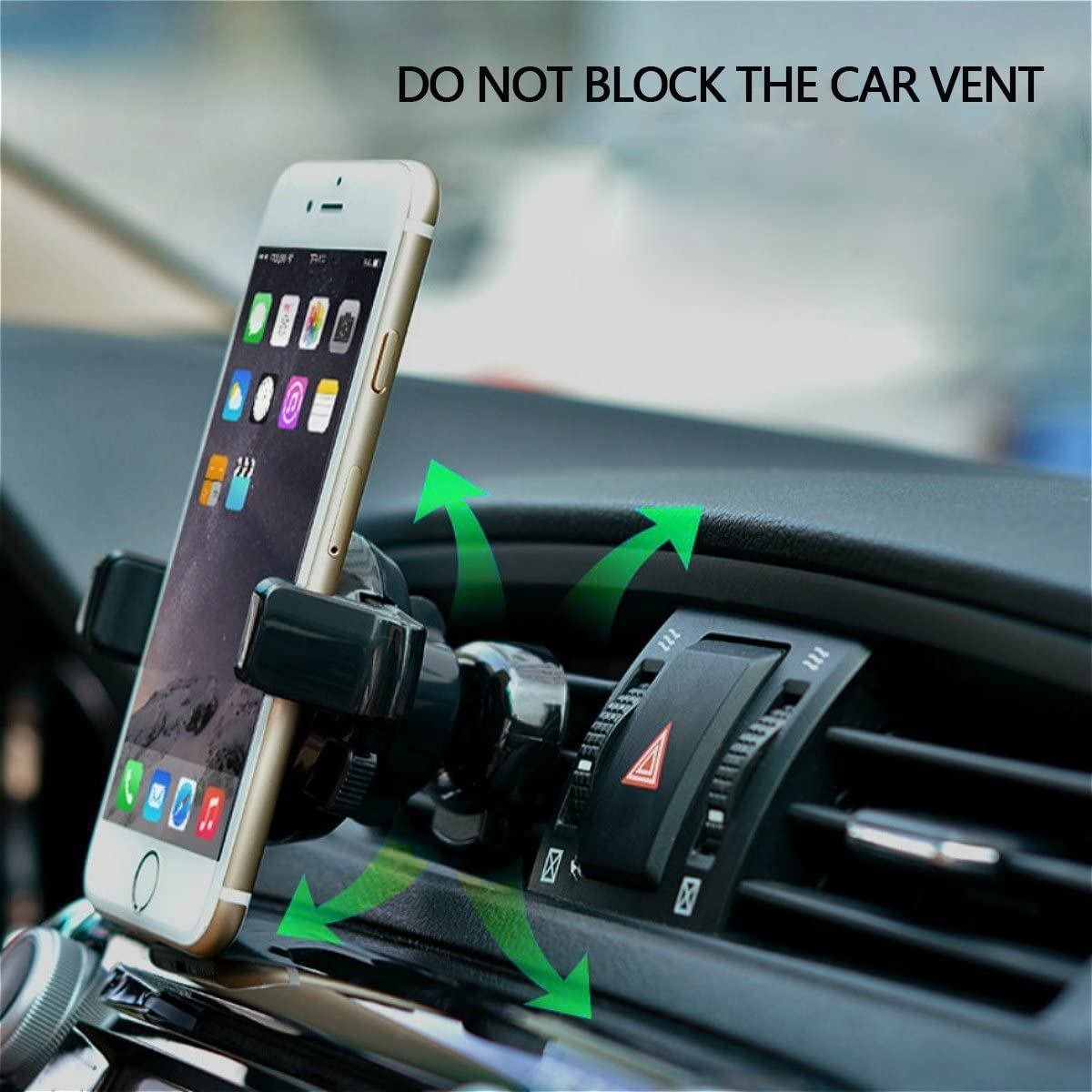 Google Nexus LG Car Stand and More TIDLAY Car Mount Holder Universal Phone Holder 360 Degree Rotation for iPhone X//8//8Plus//7//7Plus//6s//6Plus//5S Black Galaxy S5//S6//S7//S8