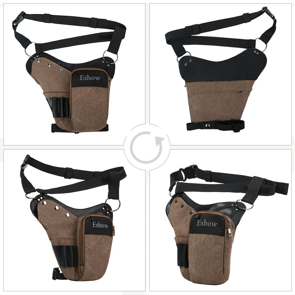 c647409099b Eshow Sac de Jambe pour outils Sac à outils tactique Trousse à Outils  électrotechnique porte-outil Accessoire de ceinture pour Bricolage  électricien ...
