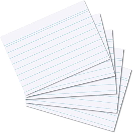 white mit Linien Büro 100 Karteikarten Herlitz DIN A6 weiss liniert Neu