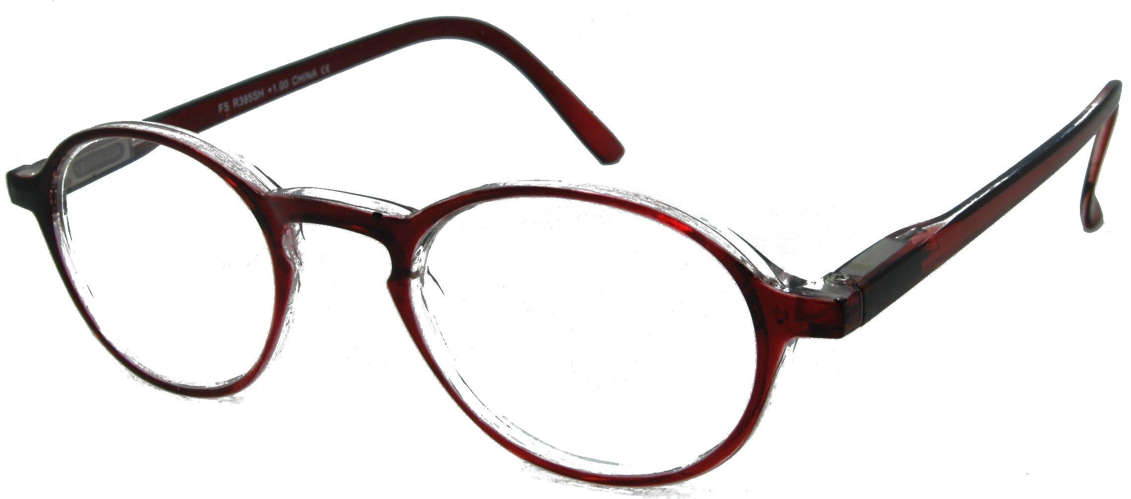 Sublime Superior Stylish Reading Glasses burgundy 2.00 by In Style Eyes