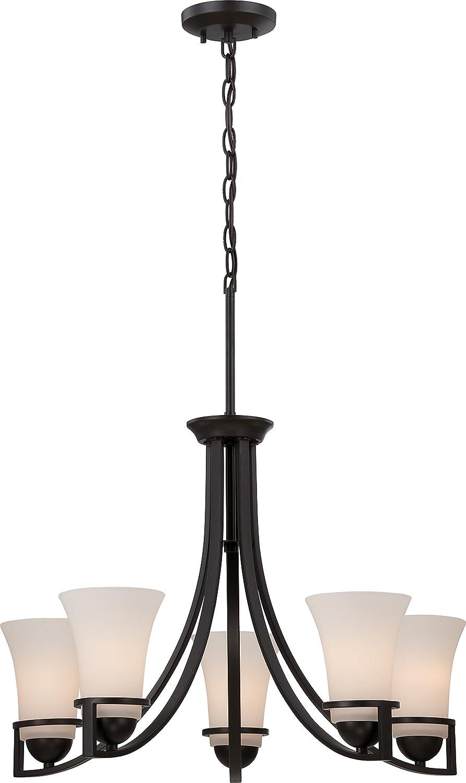 Nuvo Lighting 60//5585 Five Light Chandelier Bronze//Dark