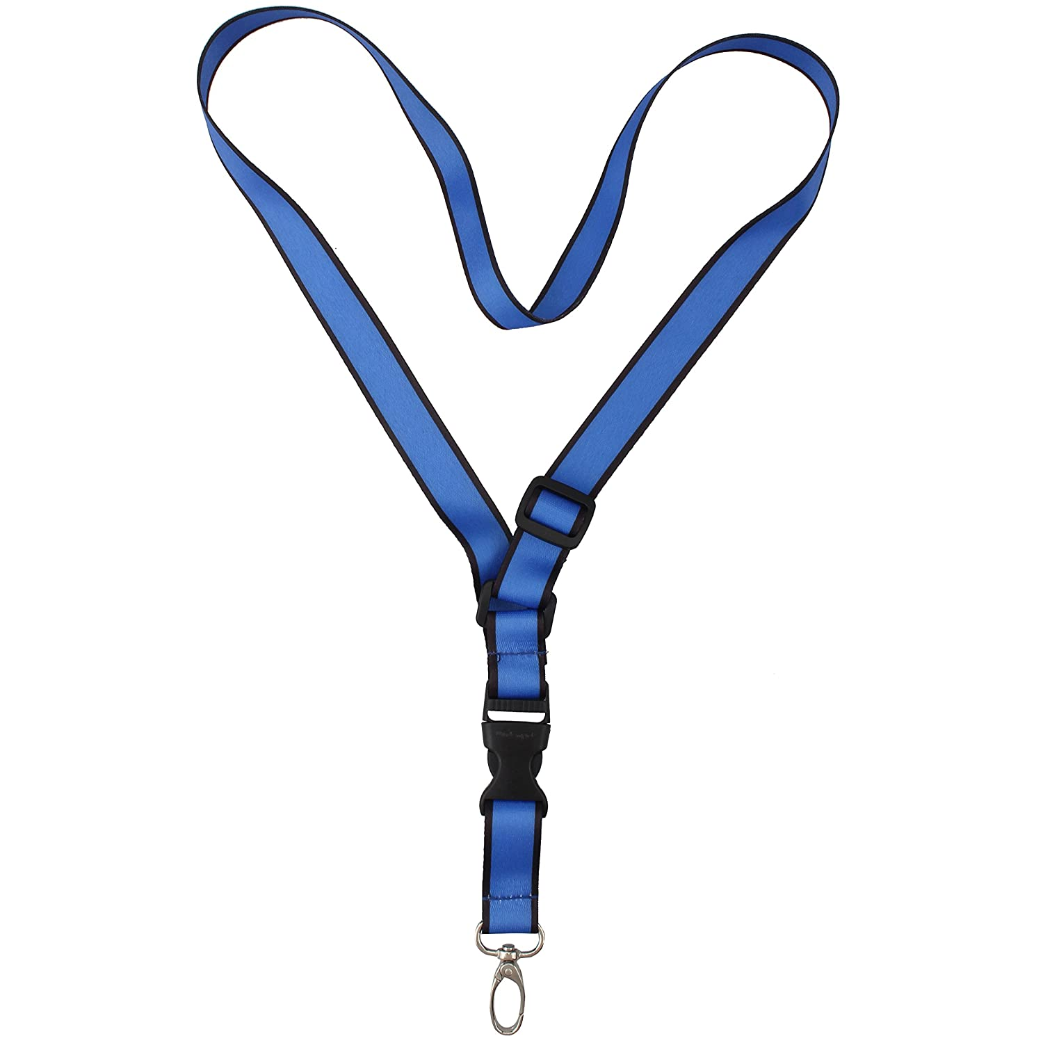 Office Lanyard, Wisdompro® Adjustable Length, Polyester Neck Strap with Oval Clasp & Detachable Buckle for ID, Name Tag, Company Badge Holder, and Keys - Sunflower
