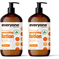 Everyone Nourishing Hand and Body Lotion, 32 Ounce (Pack of 2), Citrus and Mint, Plant-Based Lotion with Pure Essential…