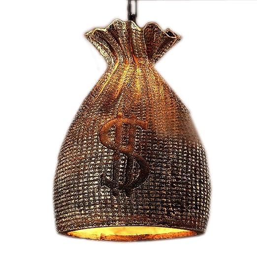 industriales Loft Lámpara Colgante Diseño Resina pantalla ...