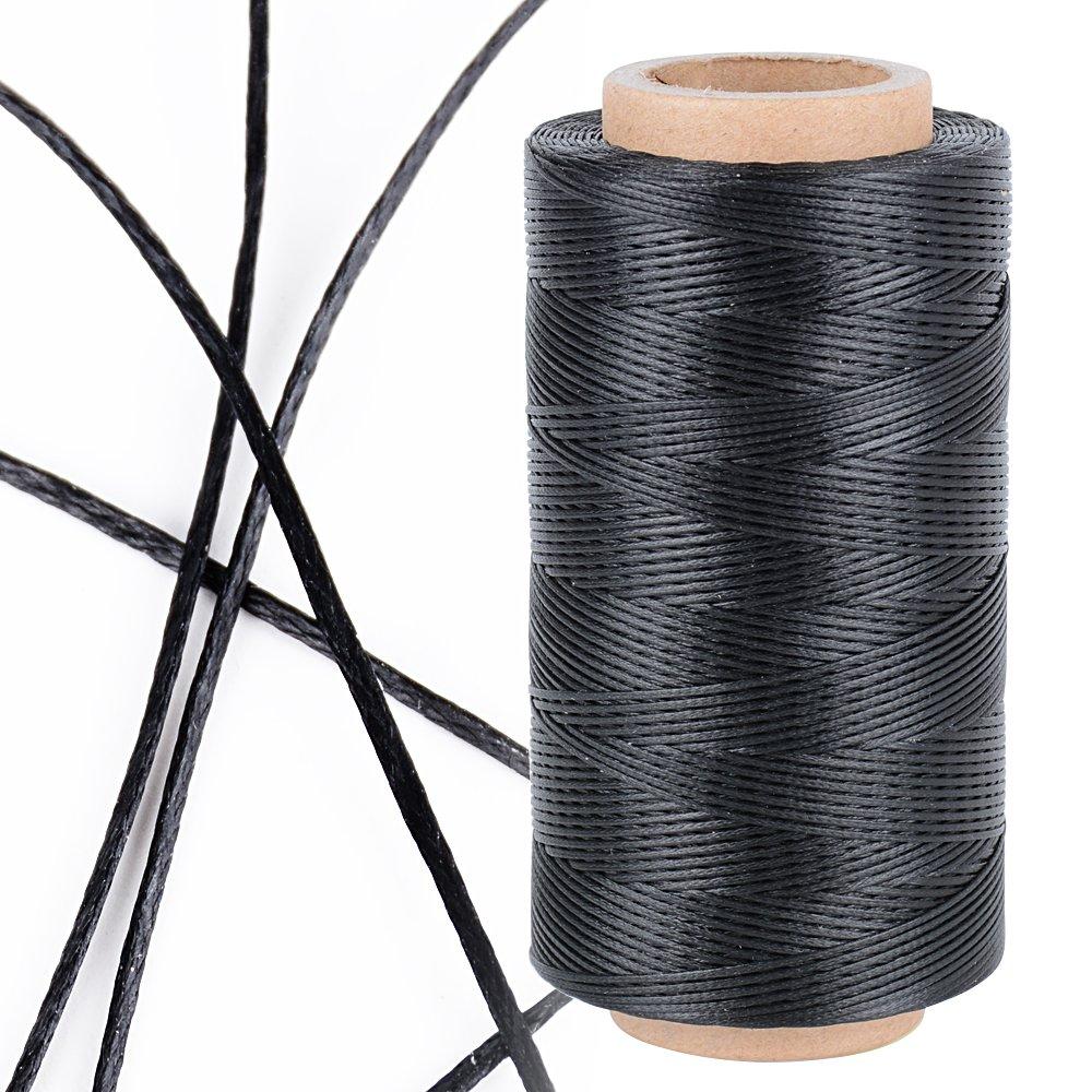 JNCH 260m 0, 8mm 150D Filo di Cucito di Cera per Pelle Cerato Corda per Cuoio Resistente Fai da Te Craft