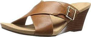 Vionic 381LIBBIE Women US 7 Tan Wedge Sandal UK 5 EU 38