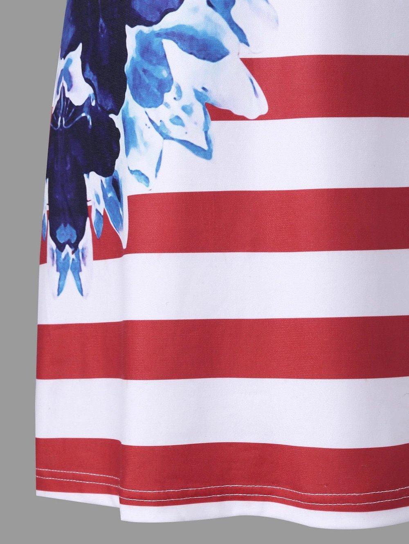 Women American Flag Vest Dress Printed Stripe Stitching O-Neck Sleeveless Maxi Mini Dress (S, Multicolor) by S&S-women (Image #6)