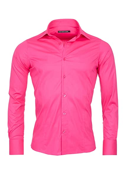 Redbridge Herren Regular Fit Freizeithemd Gr. X-Large, Violett - Purple -  Fuchsia