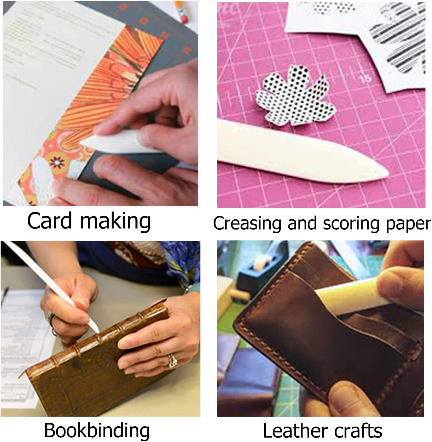 White Folding 100/% Teflon Extra Smooth Origami Bookbinding Premium Quality for Scoring Crafty Gnome Teflon Bone Folder and Scoring Tool Creasing