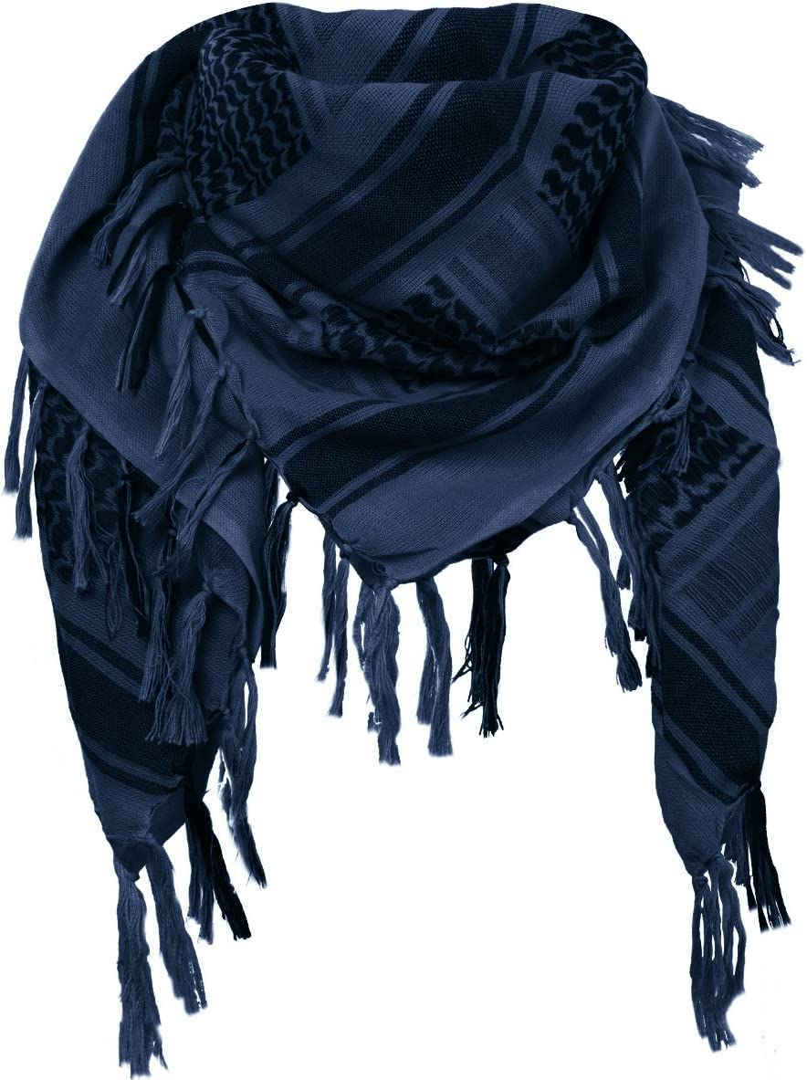 FREE SOLDIER 100/% Cotton Shemagh Military Tactical Keffiyeh Desert Head Neck Scarf 43x45 inches Arab Wrap with Tassel for Men /& Women,Army Green