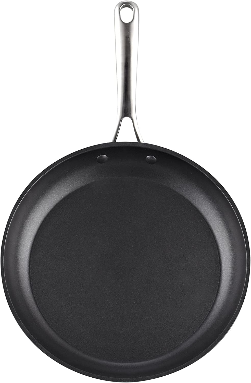 Cooks Standard 02577 12-Inch 30cm Nonstick Hard, Black Anodized Fry Saute Omelet Pan, 12-inch,