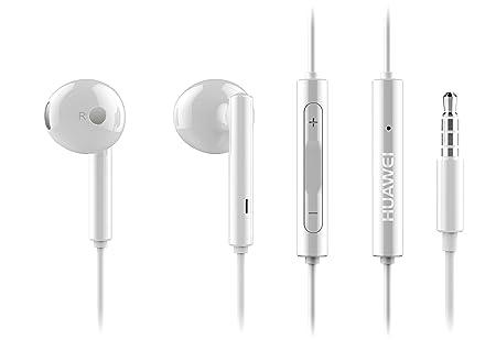 Huawei BXHUAM116 - Auriculares estereo (con microfono, 3.5 mm), color blanco: Amazon.es: Electrónica