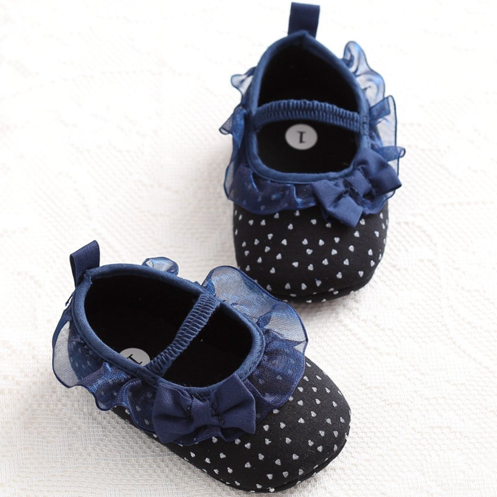 CYBLING Soft Soled Bowtie Mary Jane Shoes for Toddler Girls Non-Slip Comfort Walking Flats