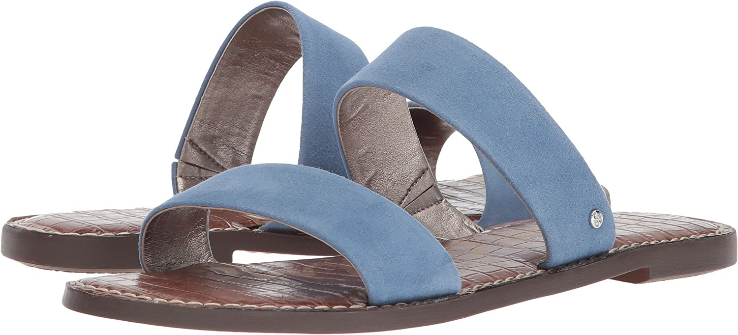 Sam Edelman Women's Gala Slide Sandal B076MHK6TF 7 W US|Denim Blue Kid Suede Leather
