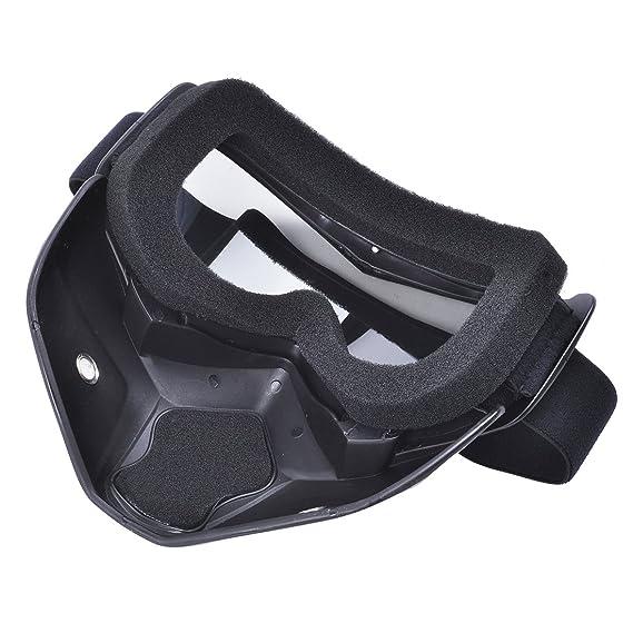 Máscara de motocross Madbike con gafas y filtro para la boca extraíbles, para cascos vintage, arco iris: Amazon.es: Deportes y aire libre