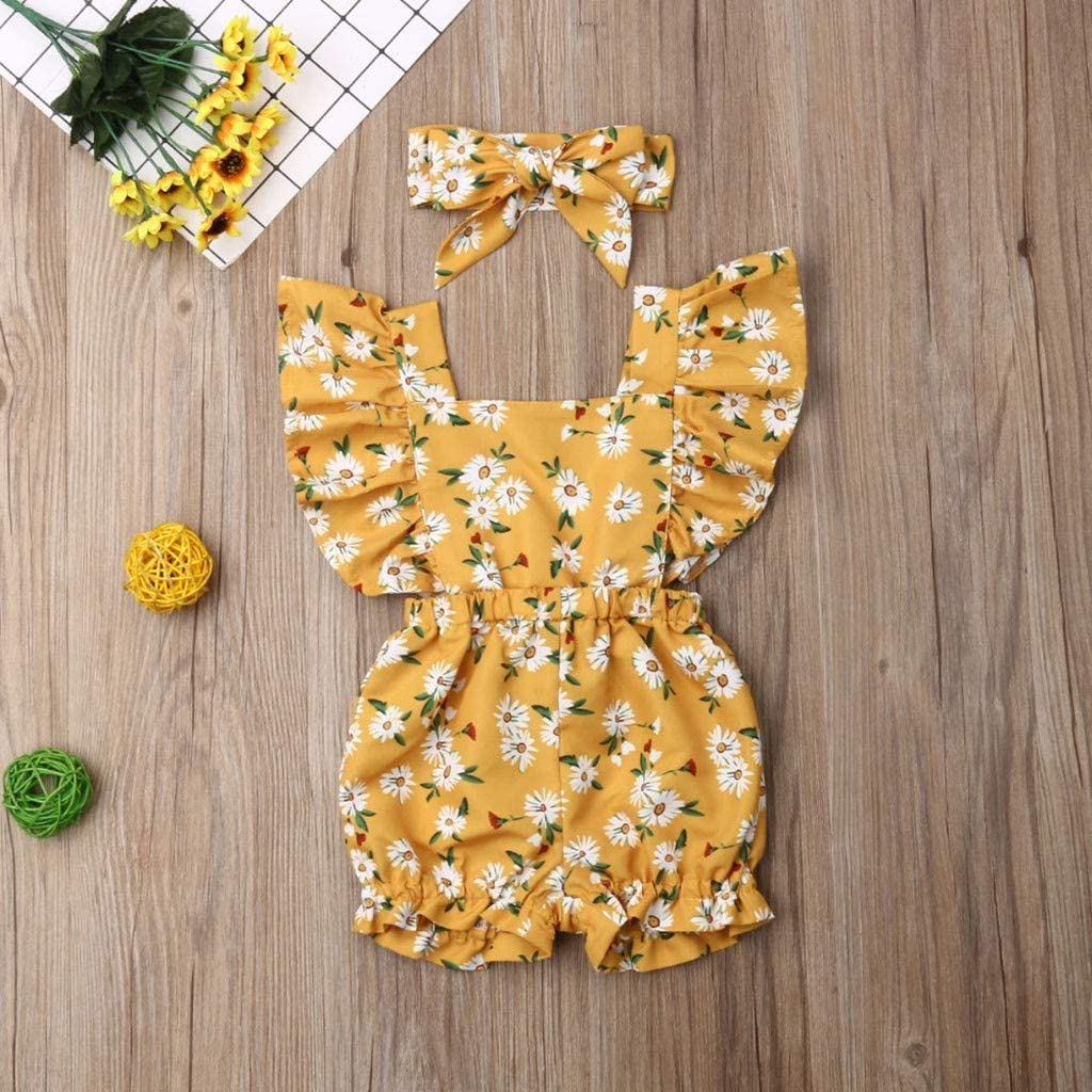 IFOUNDYOU 2020 New Girls Clothing Sets Newborn Baby Girl Cotton Lattice Bowknot Clothes Bodysuit Romper Jumpsuit Outfit Set