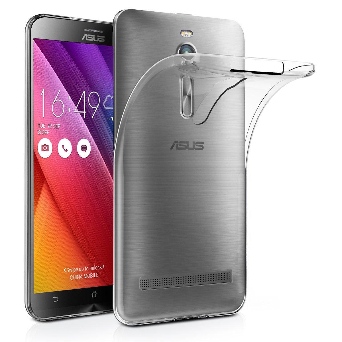 Funda Asus Zenfone Go ZB500KL, Leathlux Trasparente Suave Silicona Carcasa Protector Bumper Tapa Claro Flexible TPU Gel Ultra Delgado Cubierta para ...