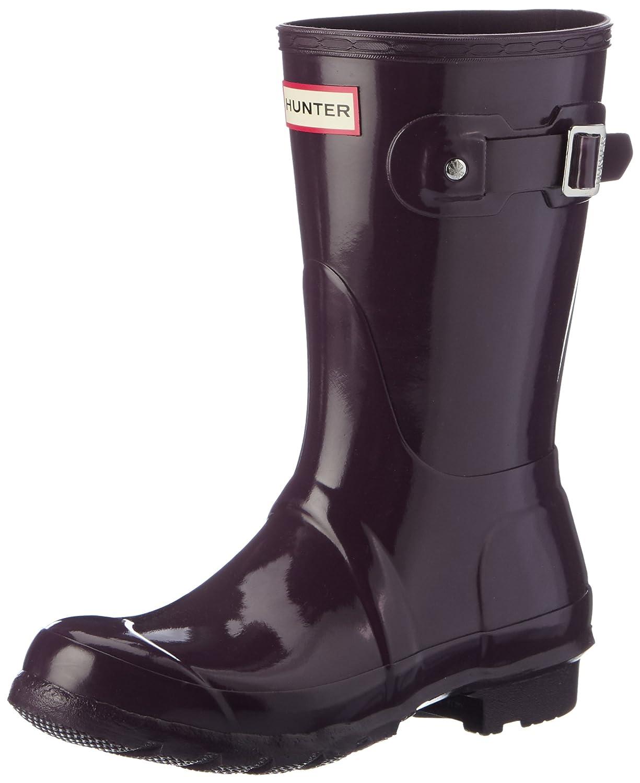 Hunter Women's Boots Original Short Gloss Snow Rain Boots Water Boots Unisex - Black - 8 B01BD29IJC 6 B(M) US|Purple Urchin