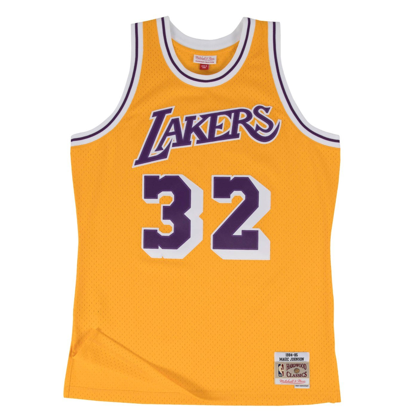 4e8a7b655 Amazon.com : Magic Johnson Los Angeles Lakers Mitchell and Ness Men's Gold  Throwback Jesey : Clothing