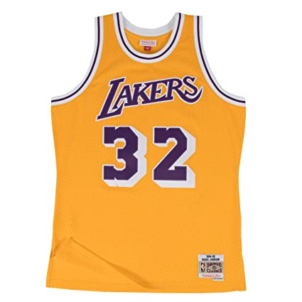 924021059f9 Magic Johnson Los Angeles Lakers Mitchell and Ness Men s Gold Throwback  Jesey 5X-Large