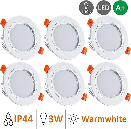 10x LED ALU Einbau Spots SLIM Decken Strahler DIMMBAR Bad Flur Lampen schwenkbar