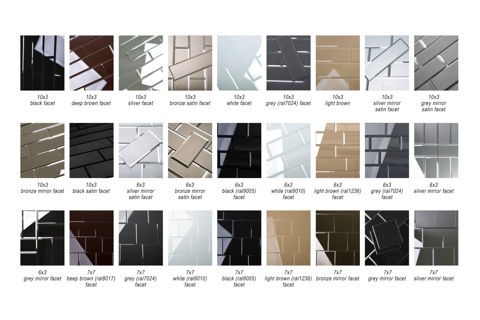 7'' x 7'' Subway Mirror Glass Tile with Beveled Edge for Kitchen Backsplash/Bathroom (40 Tiles Kit/Covers 12sq/ft)