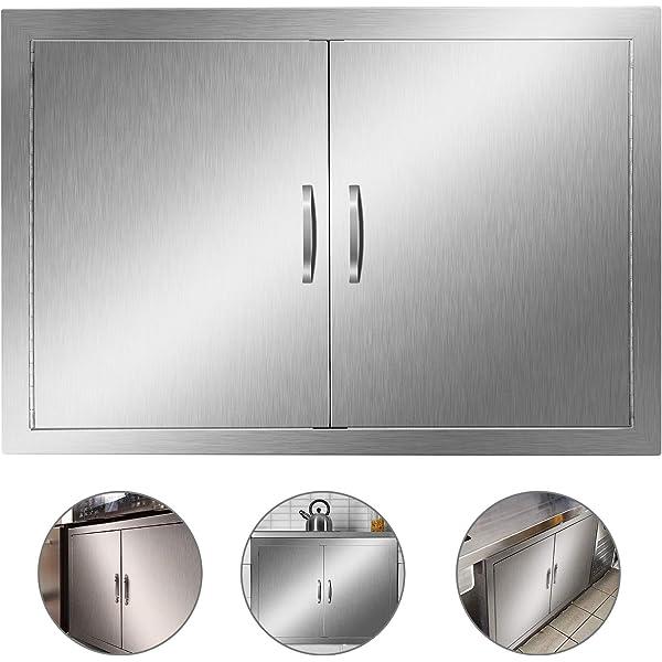 "22/"" X16/"" BBQ Island Single Access Door Stainless Steel Commercial Walled Doors"