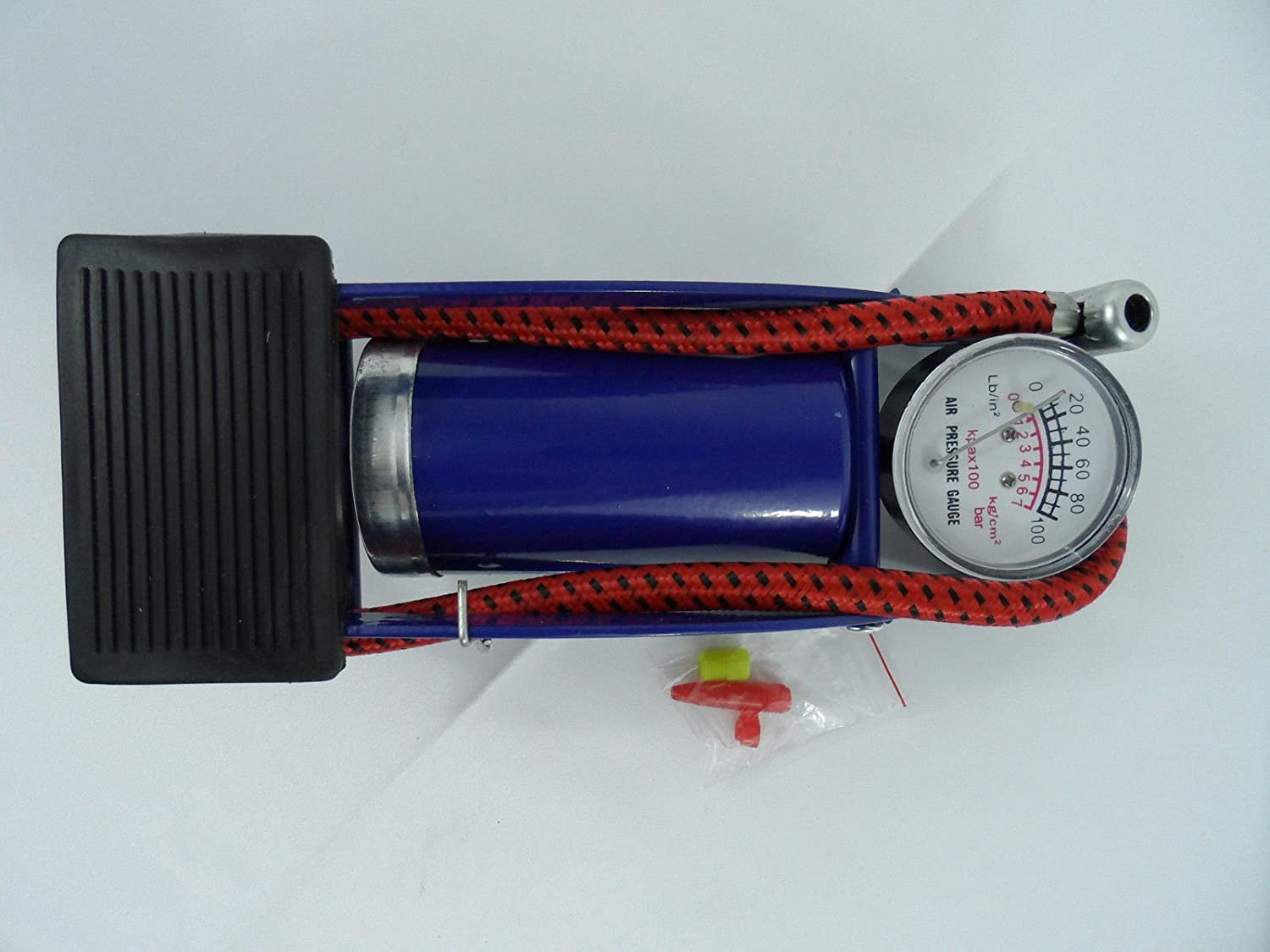 Tire Inflator Air Mattress Foot Operated Air Pump Ball Bike Bicycle with Gauge