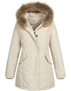 Rock Creek Selection Damen Echtfell Winter Jacke Parka Kapuze ... 00d6543d21