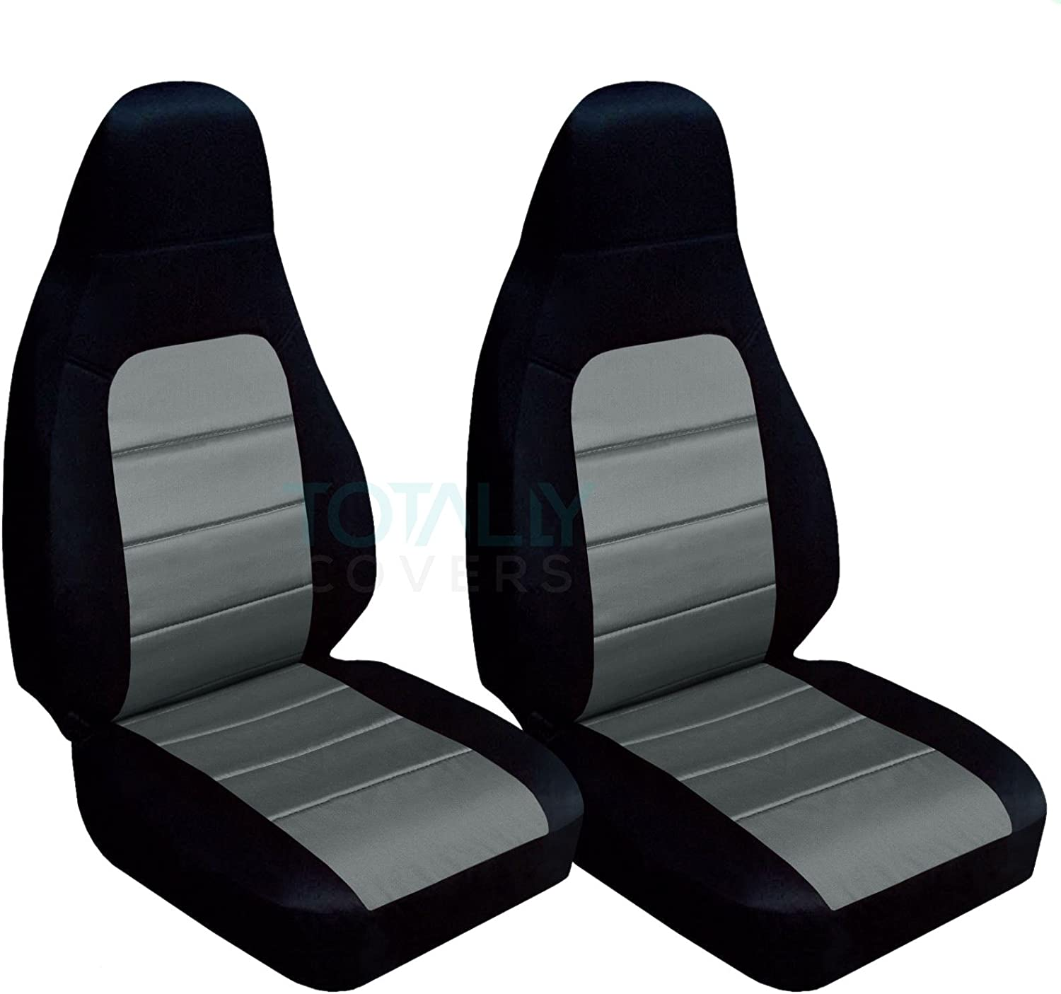 Black and Tan Totally Covers Compatible with 2001-2005 Mazda MX-5 Miata Seat Covers Bucket 22 Colors