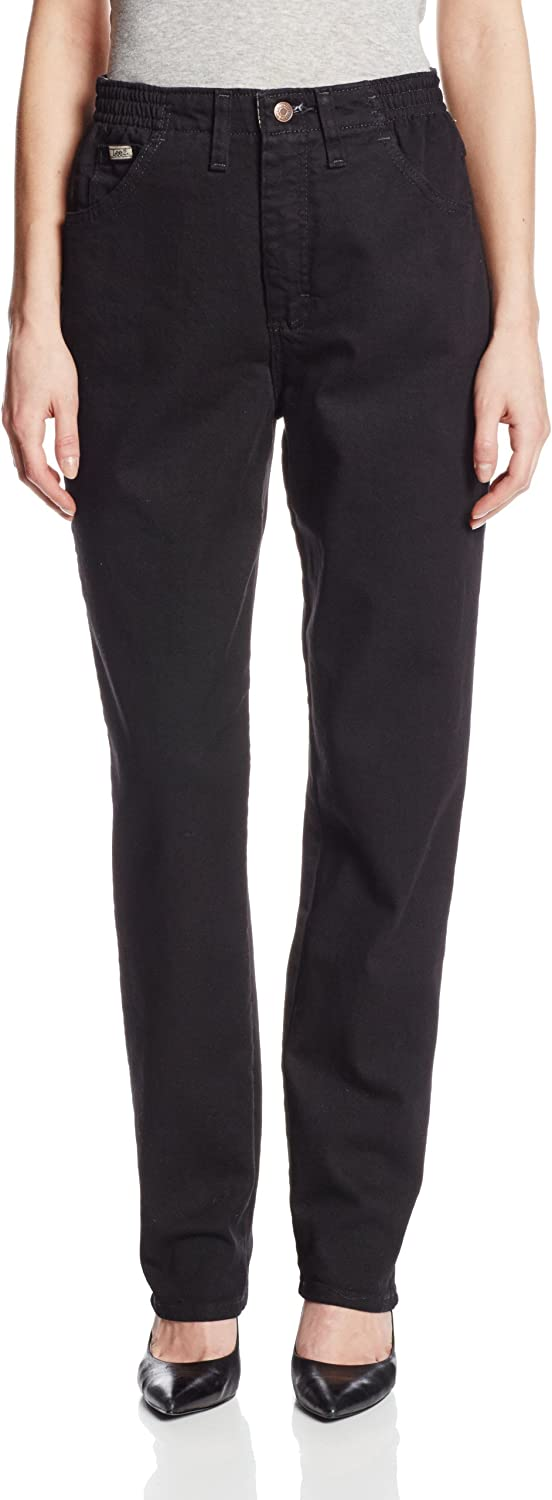 Lee Womens Relaxed-Fit Side Elastic Tapered-Leg Jean