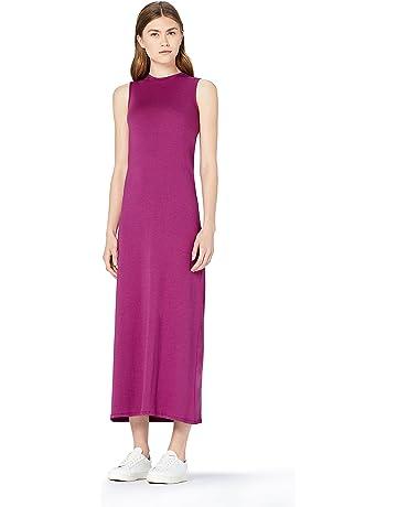 a9d8a7e88 MERAKI Vestido Maxi Slim Fit de Algodón Mujer