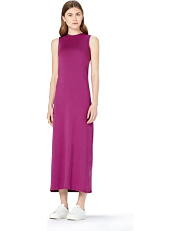 d334ff5ffa MERAKI Vestido Maxi Slim Fit de Algodón Mujer