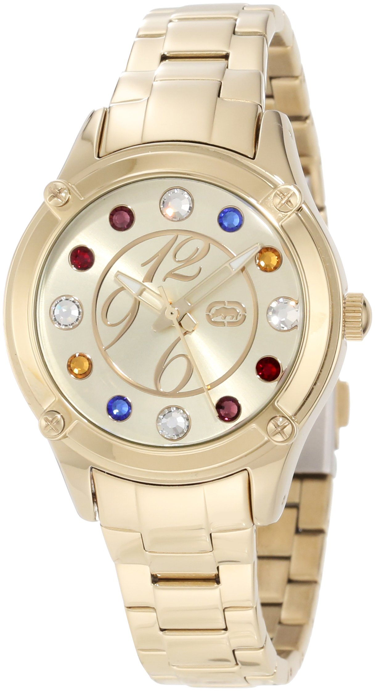 Rhino by Marc Ecko Women's E8M097MV Stone In Love Jewel Tone Multi-Color Stones Watch