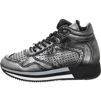 0b3a19765761d0 Cetti Damen Sneaker C-1048-SRA-antic-plomo grau 533639  Amazon.de ...