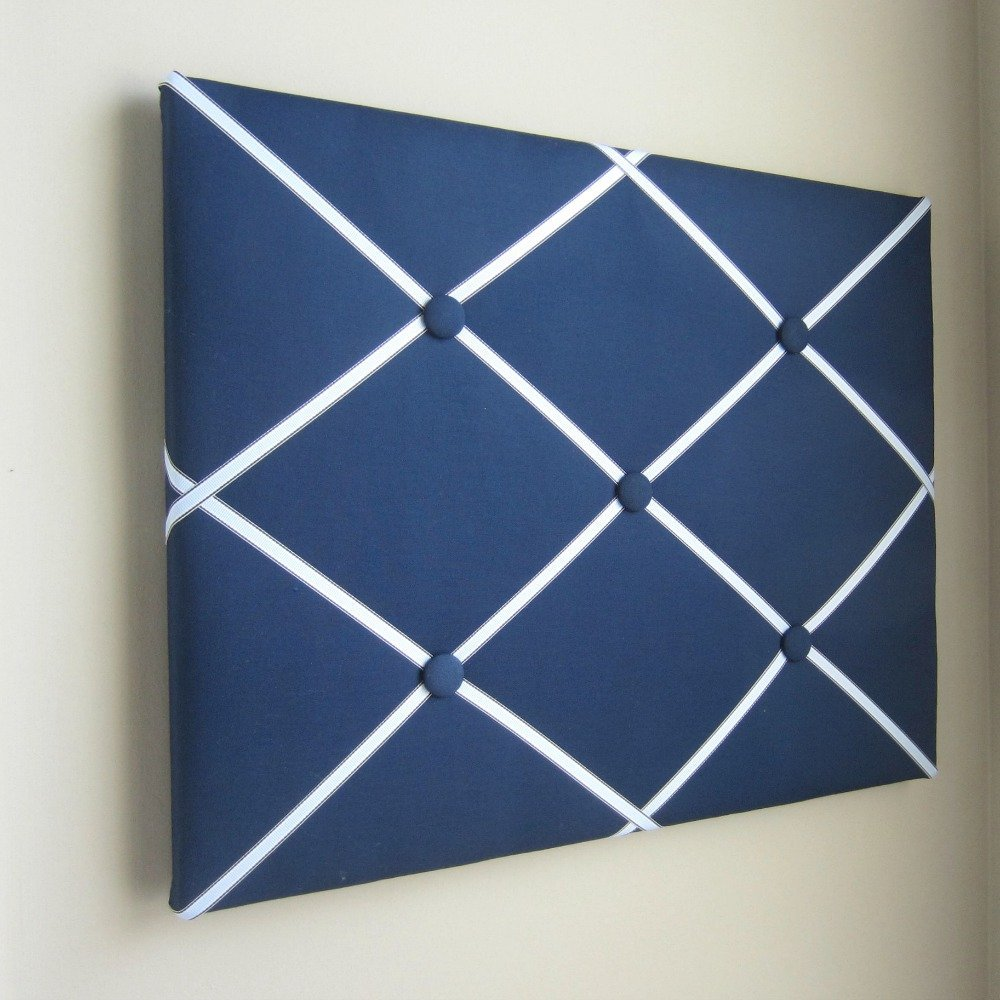 16X20 Navy Blue & Light Blue Memory Board, Memo Board, Ribbon Board, Bow Board, Photograph Organizer
