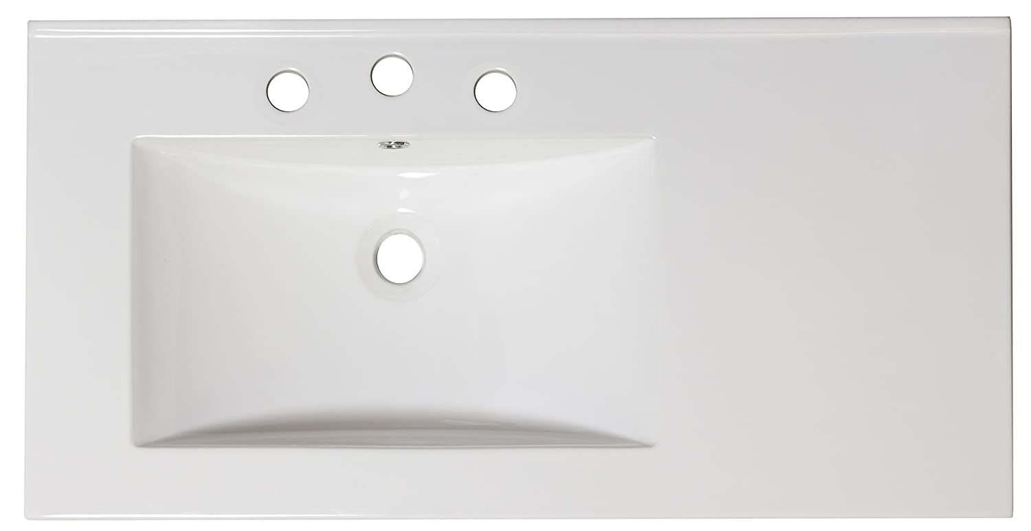 American Imaginations AI-3-1317 Ceramic Top for 4-Inch OC Faucet, 36-Inch x 18.5-Inch, White