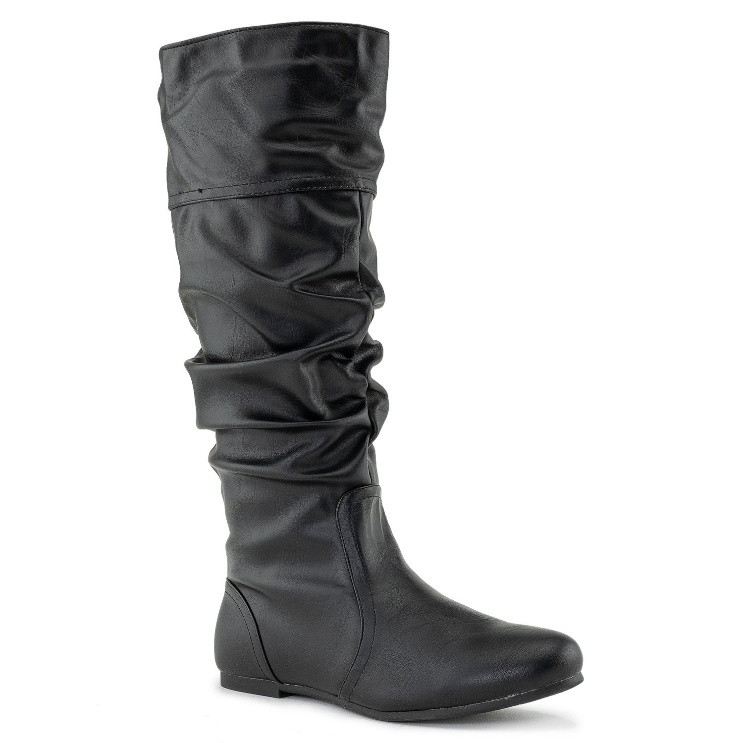 RF ROOM OF FASHION Touched-11 Boots (Black PU Size 9)