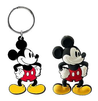 Disney Mickey Mouse Soft Touch Llavero de PVC y tacto suave ...