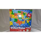 Amazon.com: U.S. Map Puzzle by Milton Bradley: Toys & Games
