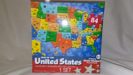 Puzzle Map Of The United States.Amazon Com Map Of The United States Puzzle 84 Piece Puzzle Map Of