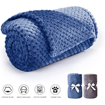 Msicyness Pet Blanket Premium Fleece Fabric Blankets Soft and Warm Dogs & Cats Throw for Couch,Furniture Chair and Bed