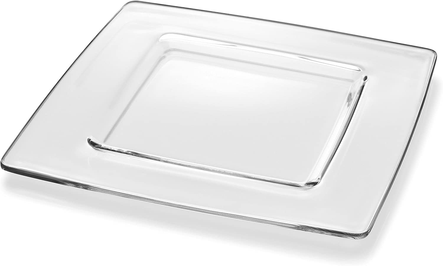 11.5 Entrada Collection Restaurant Grade Glass Charger Square Clear