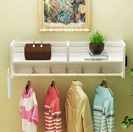 AIDELAI Coat Rack Coat Racks Shoe Rack Bag Rack Clothing Store Racks White Clothing Display Stand