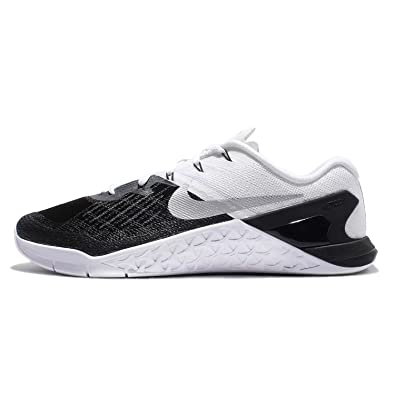 627db7237c34e2 Image Unavailable. Image not available for. Color  Nike Mens Metcon 3 Shoes  Black White Silver 005 Size 14