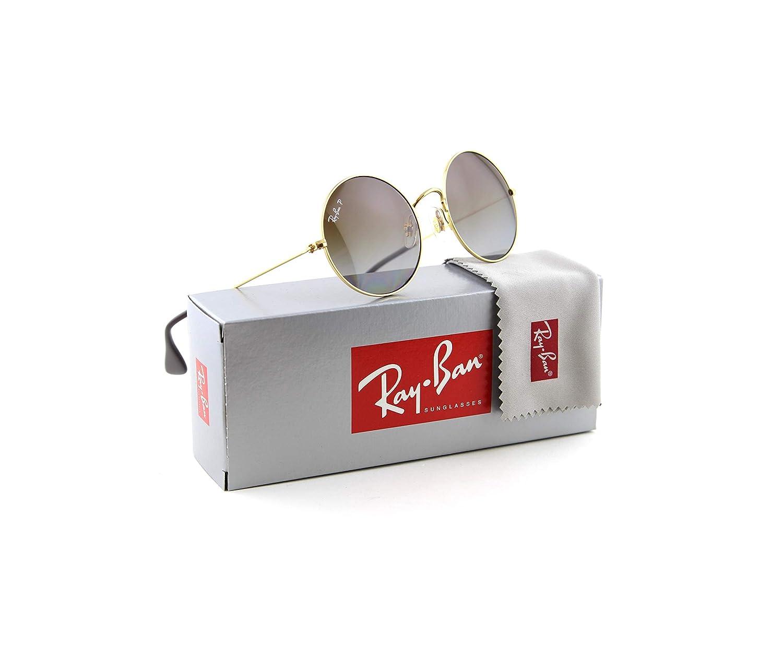 Ray-Ban RB3592 JA-JO Polarized Metal Round Gradient Sunglasses 001/T5 - 50mm