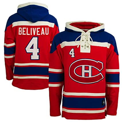 47 Montreal Canadiens Jean Beliveau NHL Alumni Heavyweight Jersey Lacer  Hoodie - Medium 6f40e7895