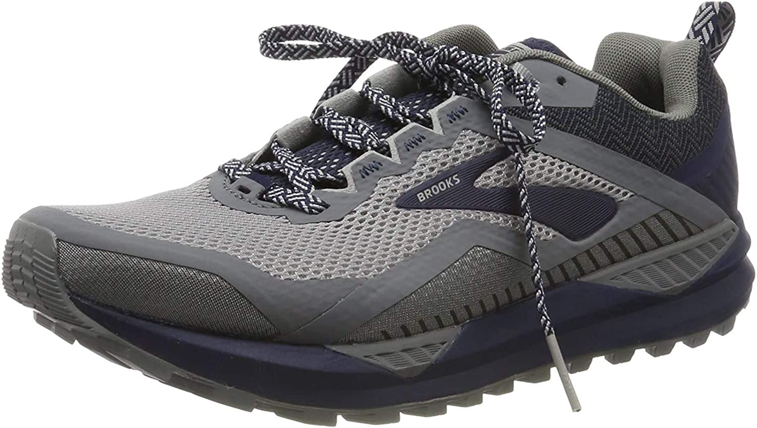 Brooks 1103101D, Zapatillas De Running para Hombre, Gris Grey Navy 020, 44 EU: Amazon.es: Zapatos y complementos